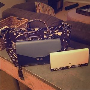 rare tory burch bags set with wallet